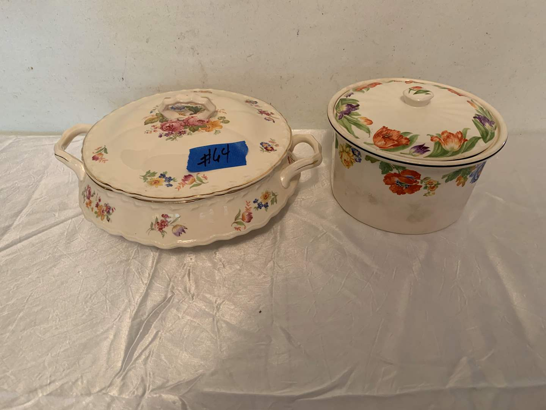Lot # 64 Vintage Harker Hot Oven Soup Tureen and Crock w/Lid