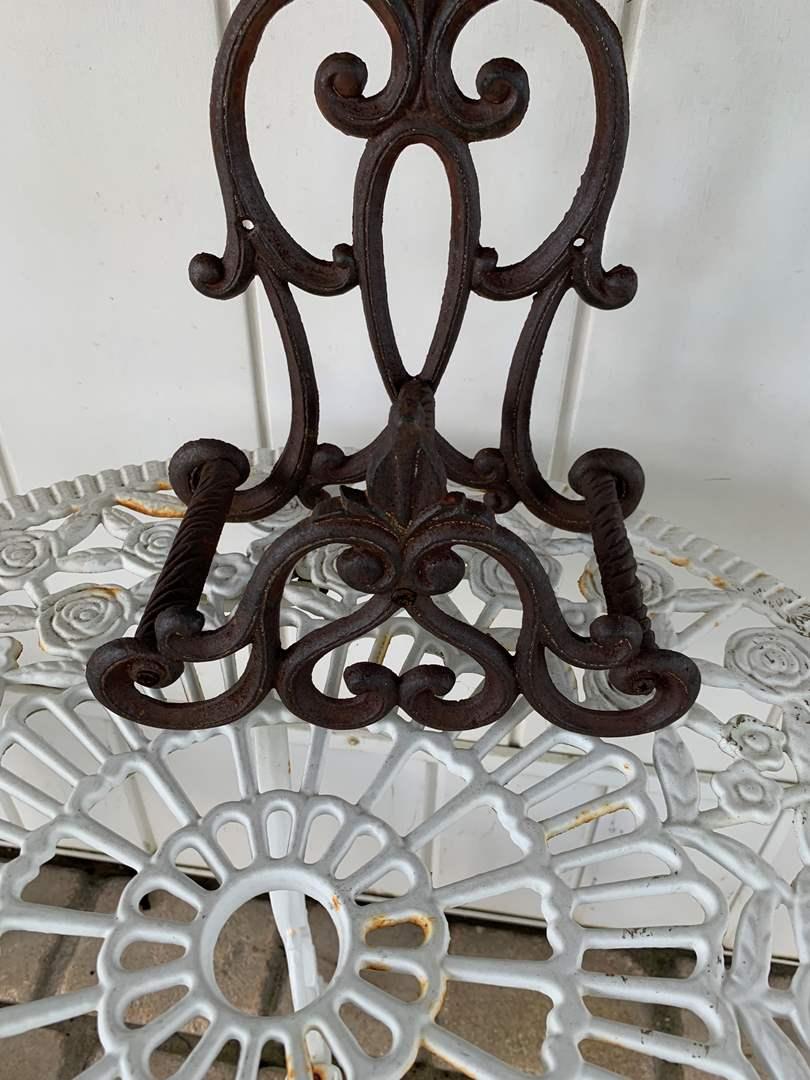Lot # 68 Black Iron Decorative Piece