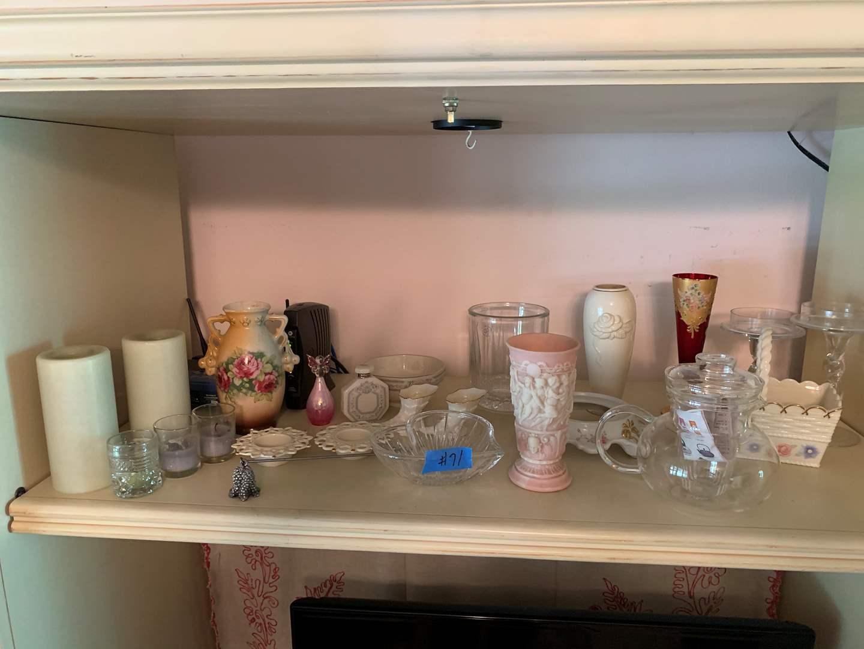Lot # 71 Shelf full of Lenix handpainted various porcelain