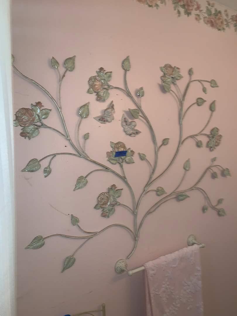 Lot # 87 rosebush pattern metal wall art