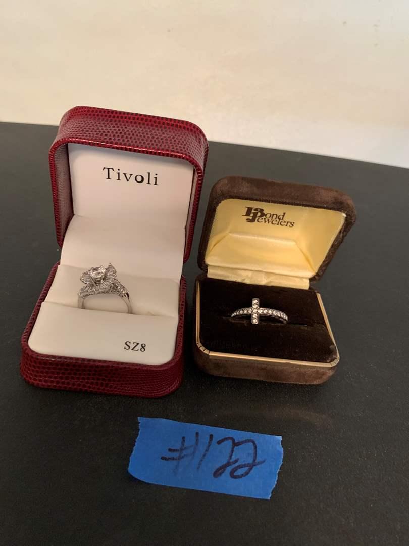 Lot # 122 Trivoli and Bond Jewelers Rhinestone and Crystal Rings