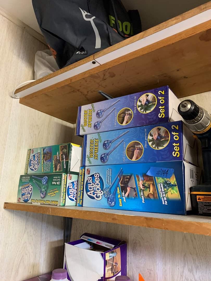 Lot # 150 box lot of aqua globes plant waterers
