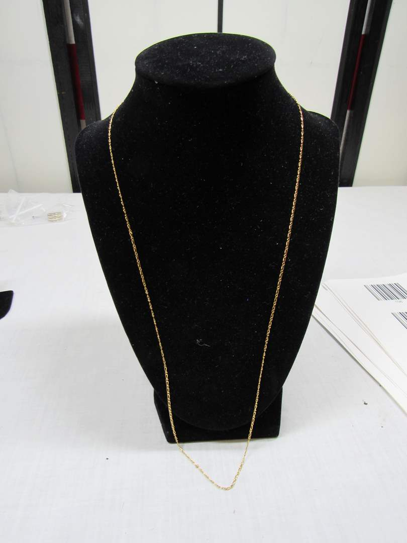 "Lot # 108  14K gold 24"" necklace 3.07 grams (main image)"