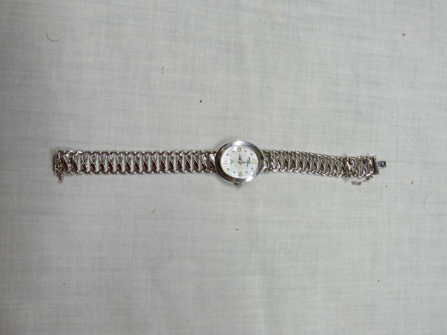 Lot # 111  Beautiful 14K white gold Michael Anthony watch 19.94 total grams (read below) (main image)
