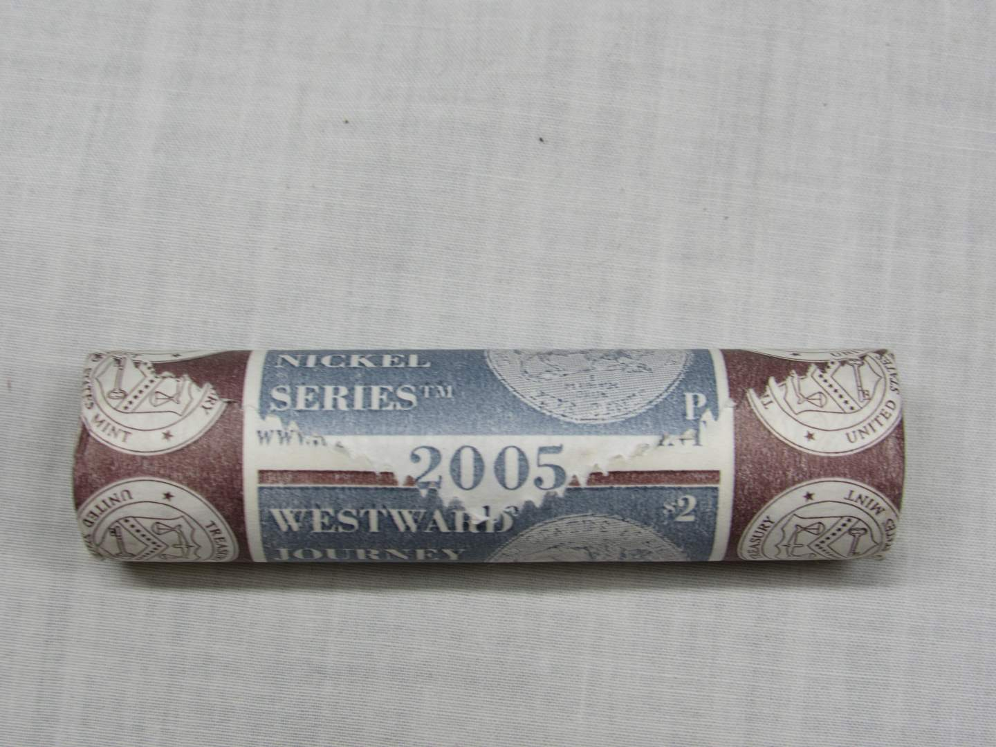 Lot # 146  2005-P Shotgun roll Westward Journey Nickles (main image)