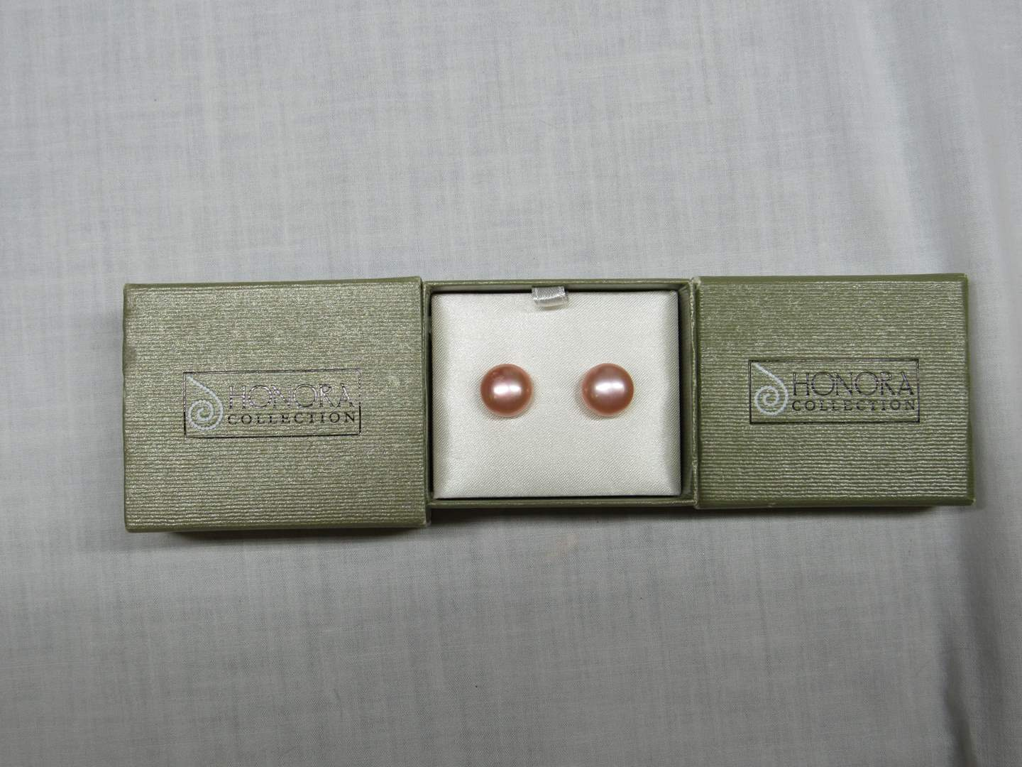 Lot # 184  Pair Honora pearl earrings (main image)