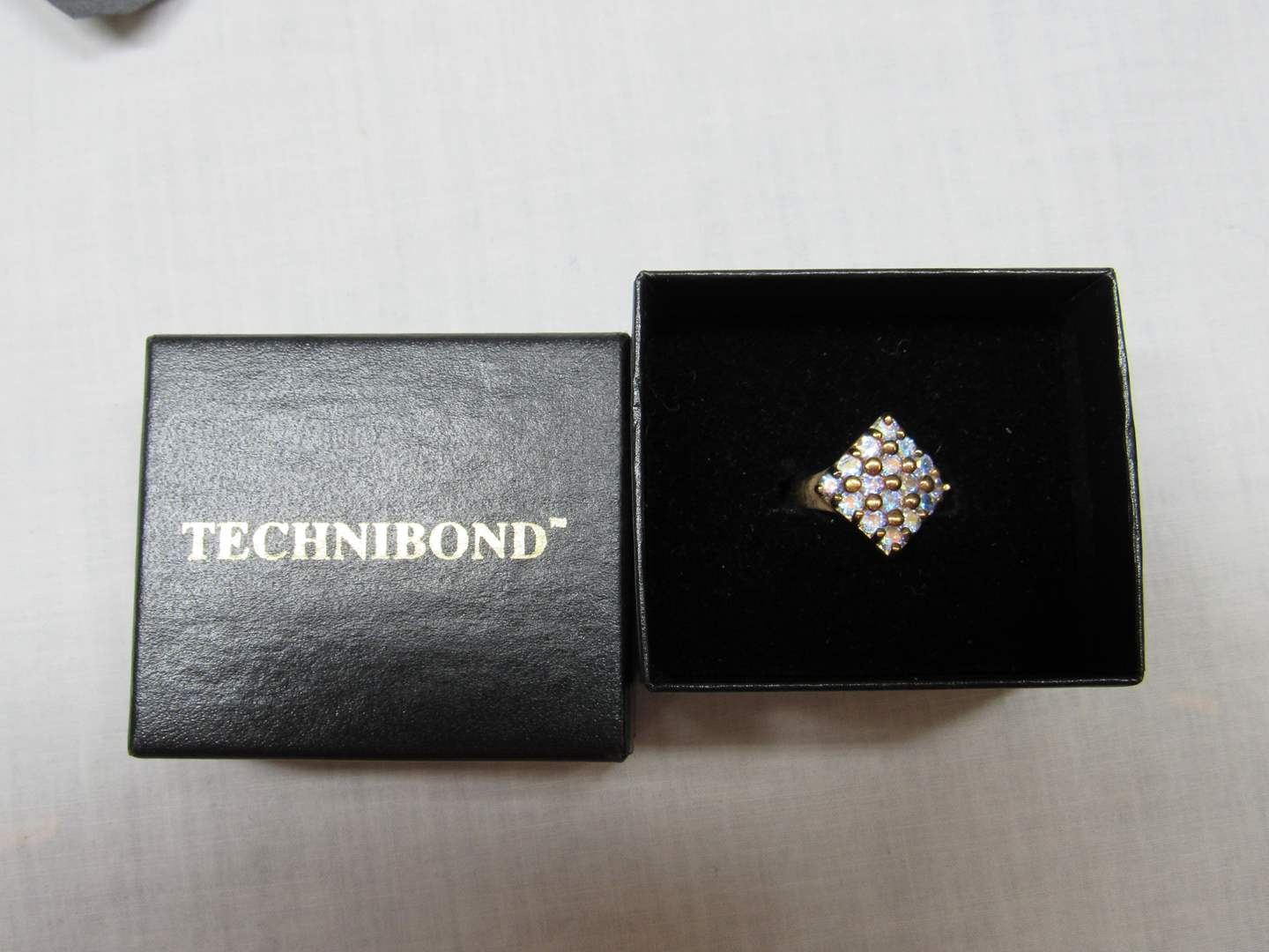 Lot # 188  Great Gold over sterling silver size 8 ring (main image)