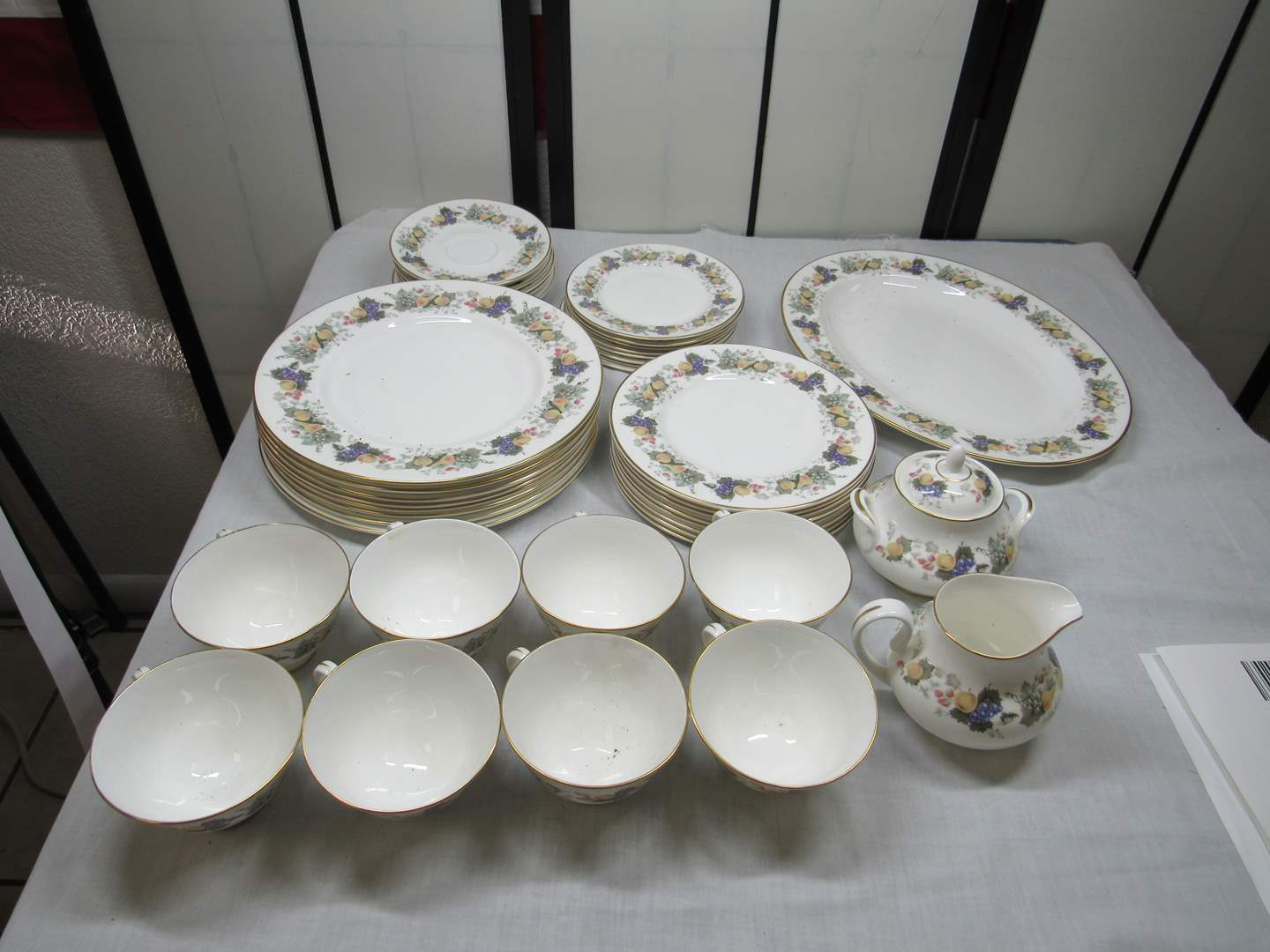 Lot # 2  Great set of Royal Doulton Dishes (Ravenna pattern) excellent condition (main image)