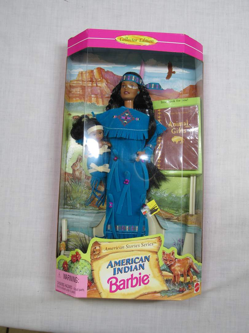 Lot # 23  New Native American Indian Barbie (main image)