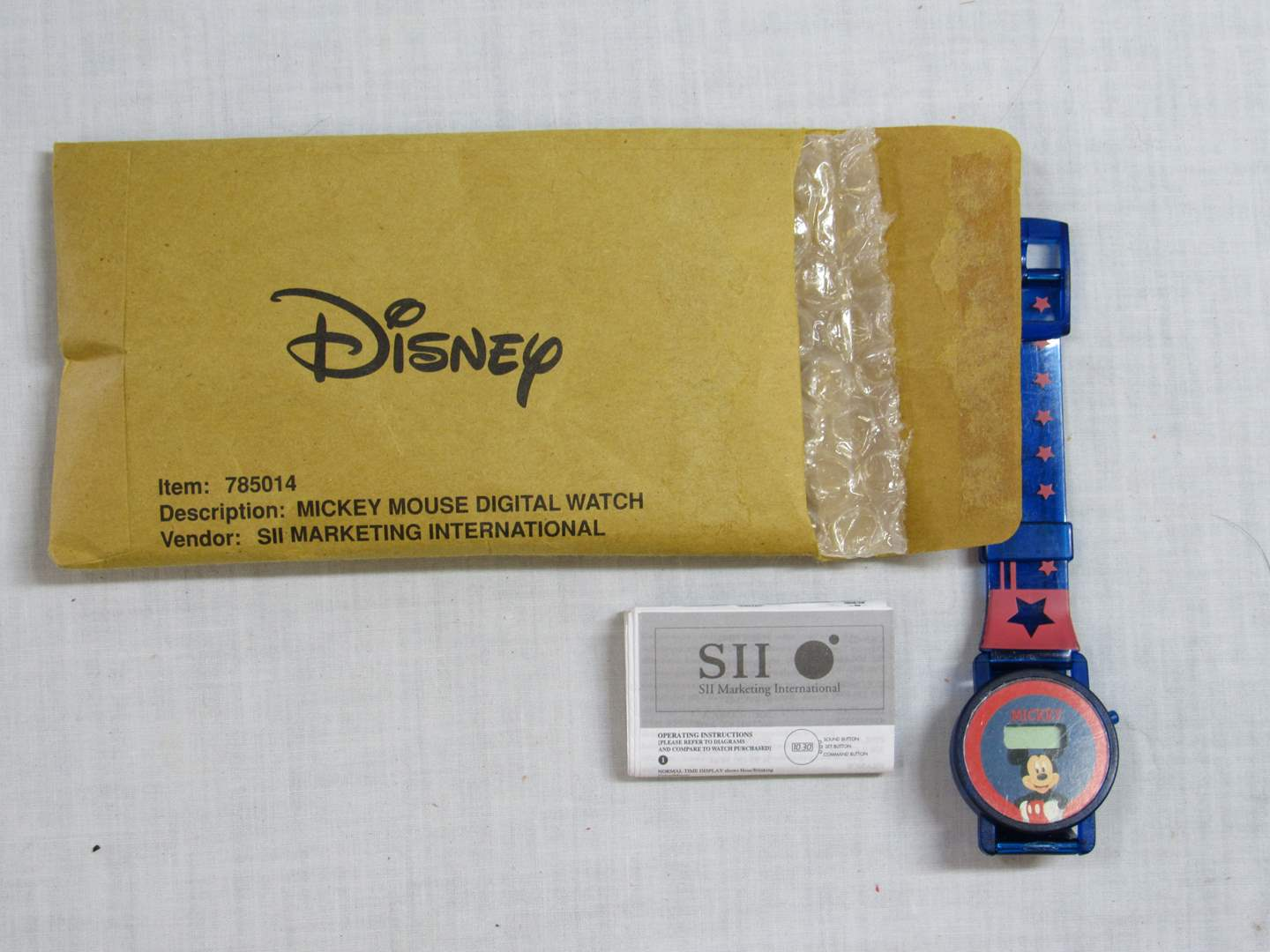 Lot # 36  New Never worn Micky Mouse Disney Watch (will need a battery) (main image)