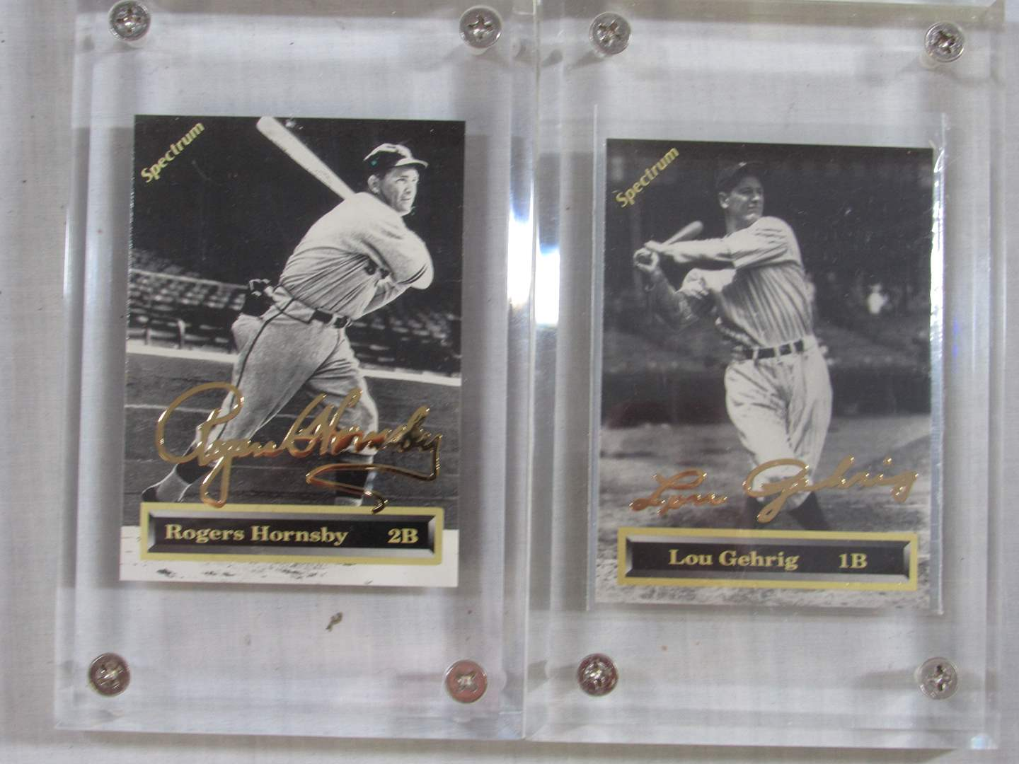 Lot # 46   2 Great Gold series collector sports cards in Ice Block Cases (main image)