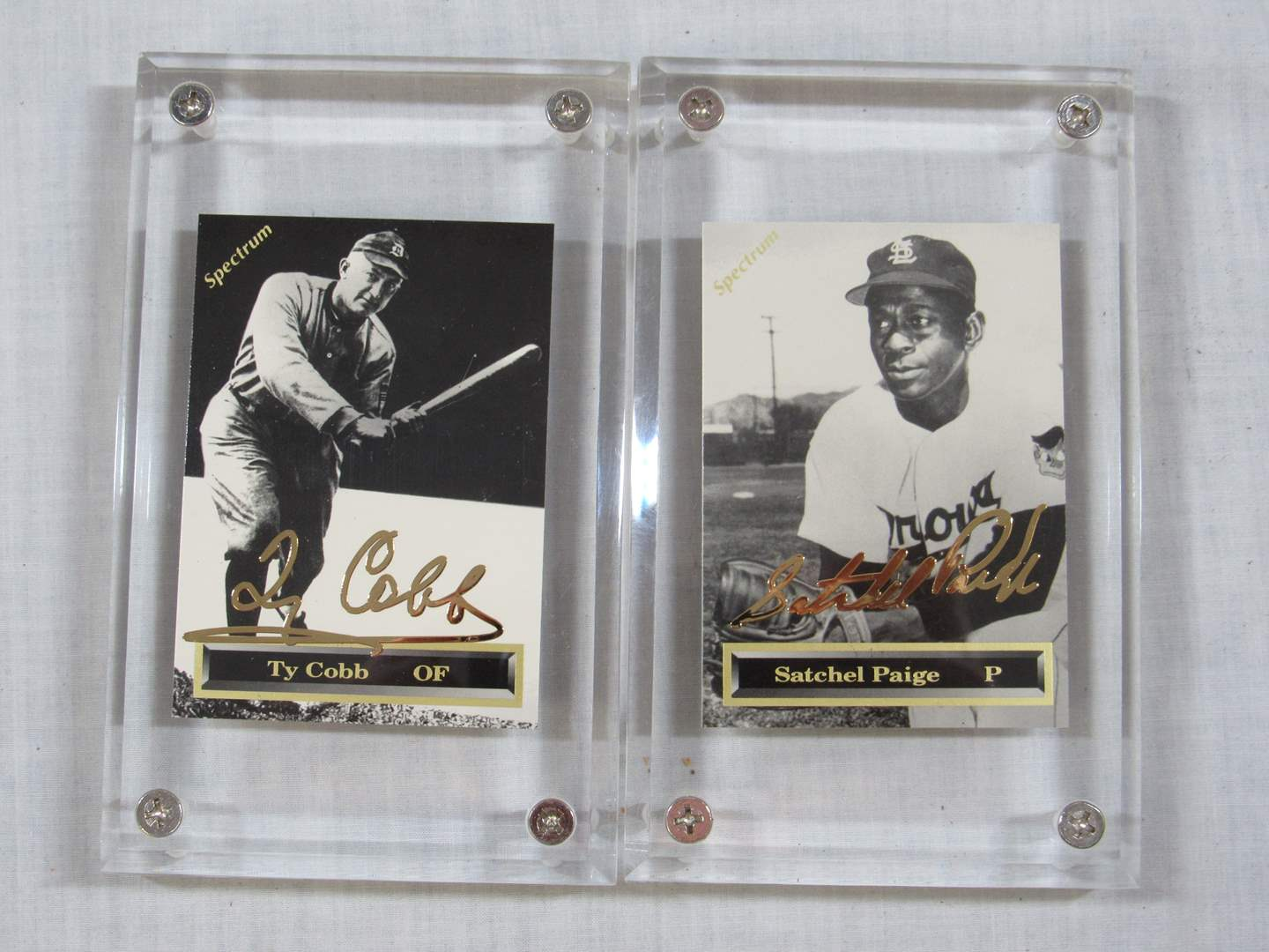 Lot # 47   2 Great Gold series collector sports cards in Ice Block Cases (main image)