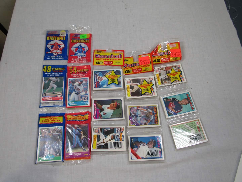 Lot # 49  NEW Never opened 4 Rack Packs baseball trading cards (main image)