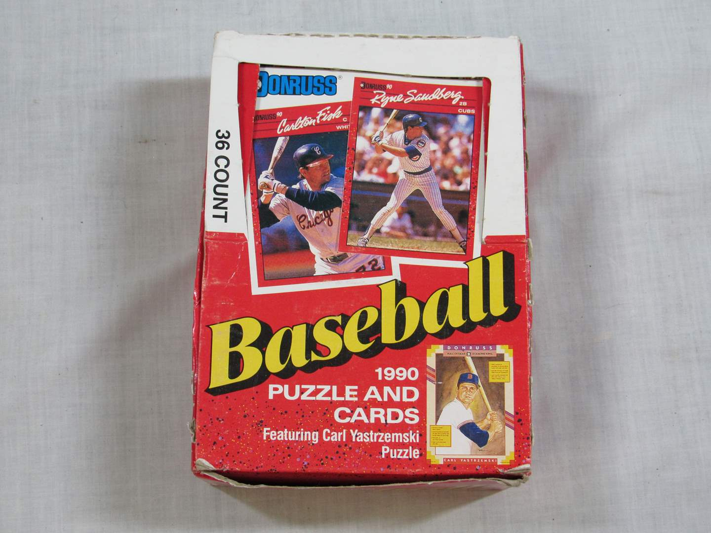 Lot # 84  NEW never opened 1990 Donruss 36 packs trading cards (main image)
