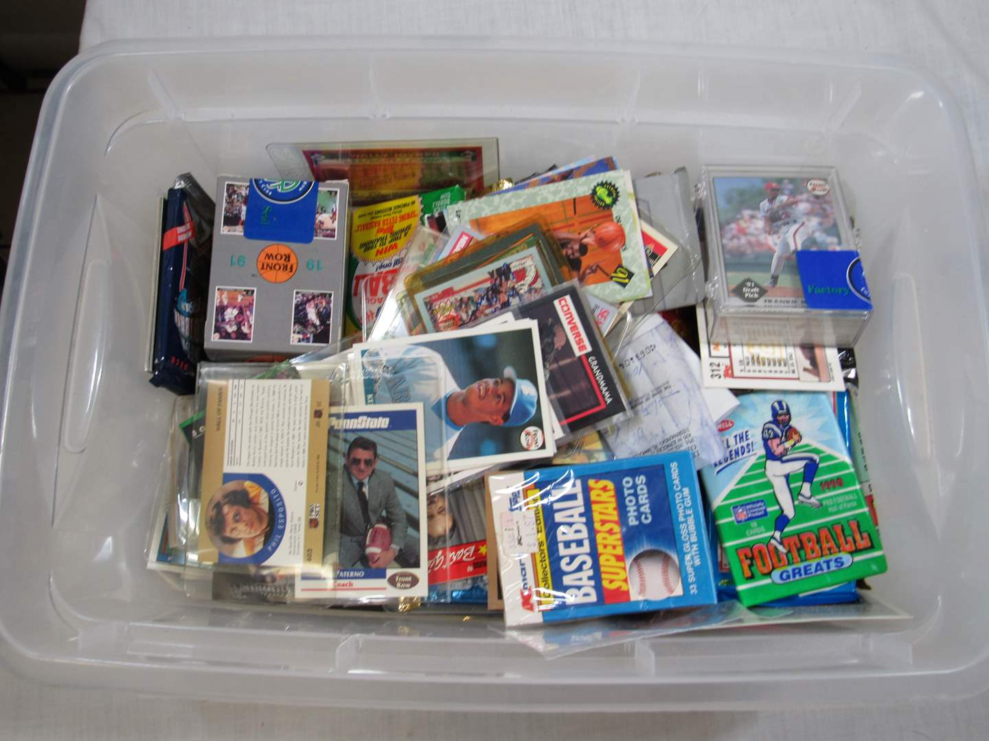 Lot # 85  MASSIVE lot of trading cards MANY unopened packs (main image)