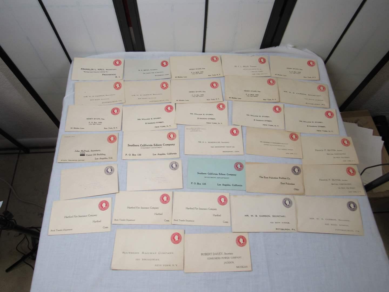 Lot # 96  Great lot of VINTAGE US postage envelopes 2 & 3 Cent (main image)
