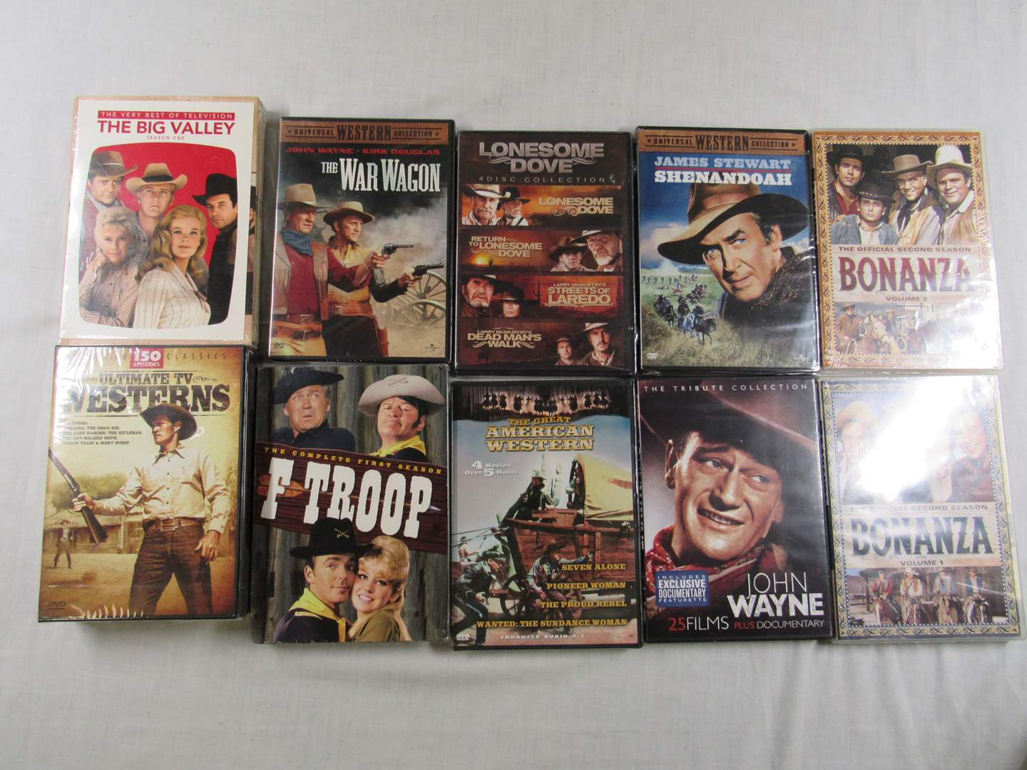Lot # 215  GREAT lot of Western DVD's 100's of hours worth (ALL NEW NEVER OPENED) (main image)