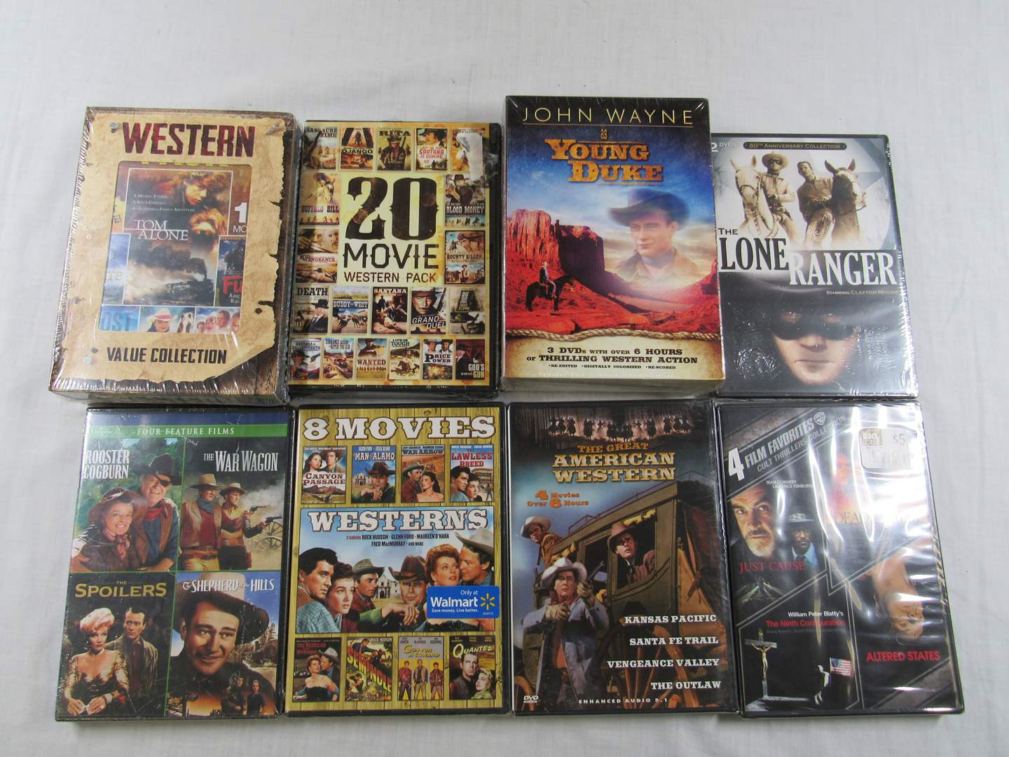 Lot # 216  GREAT lot of Western DVD's 100's of hours worth (ALL NEW NEVER OPENED) (main image)