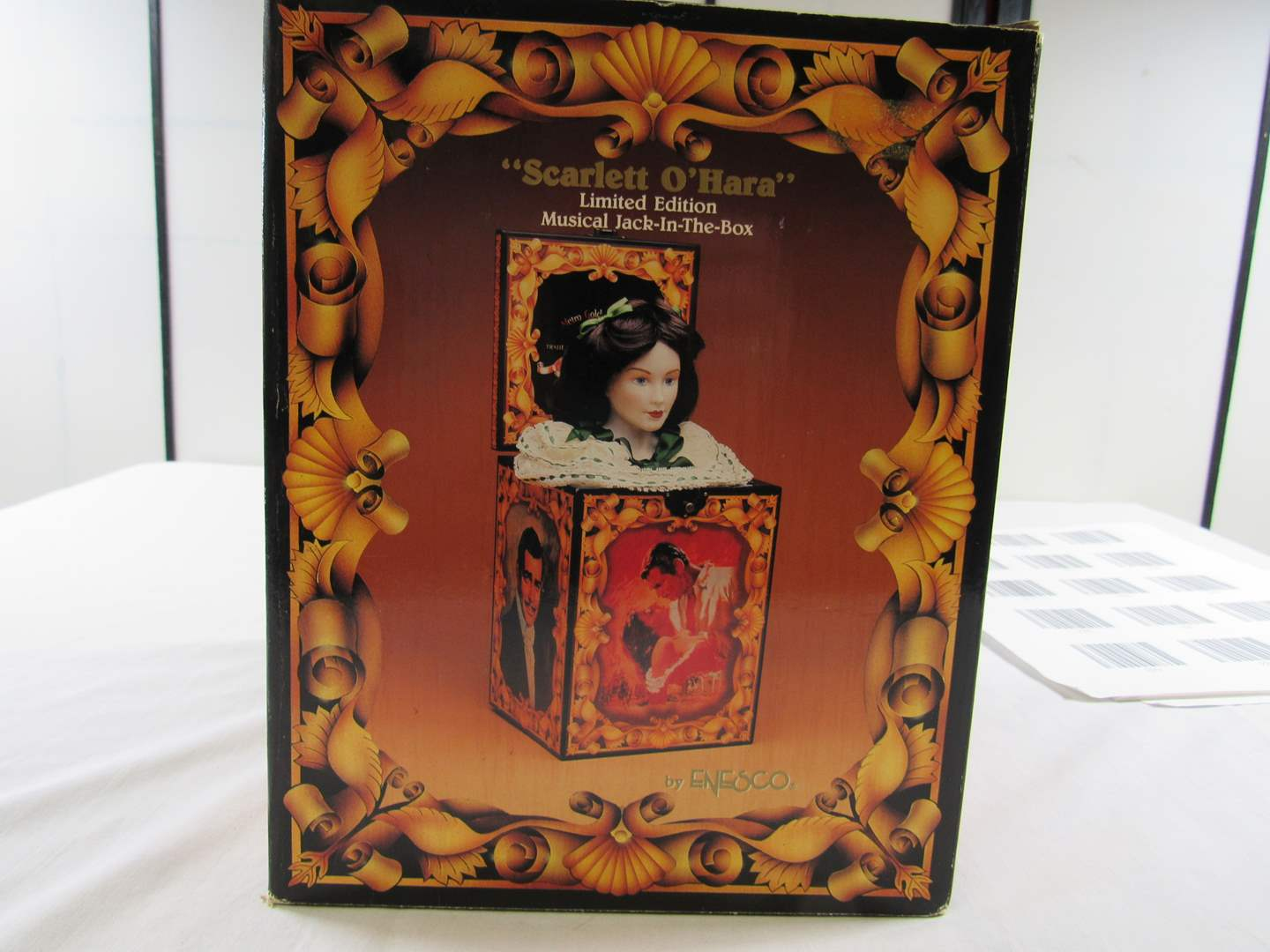 Lot # 224  Gone with the Wind Scarlett O'Hara Jack in the box music box (not working) (main image)
