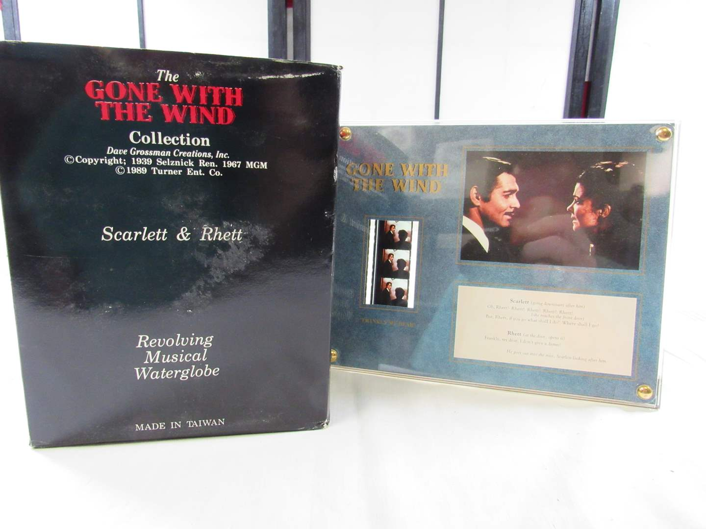 """Lot # 226  """"Gone with the Wind"""" Snow Globe (bit off color) & collectible film strip (main image)"""