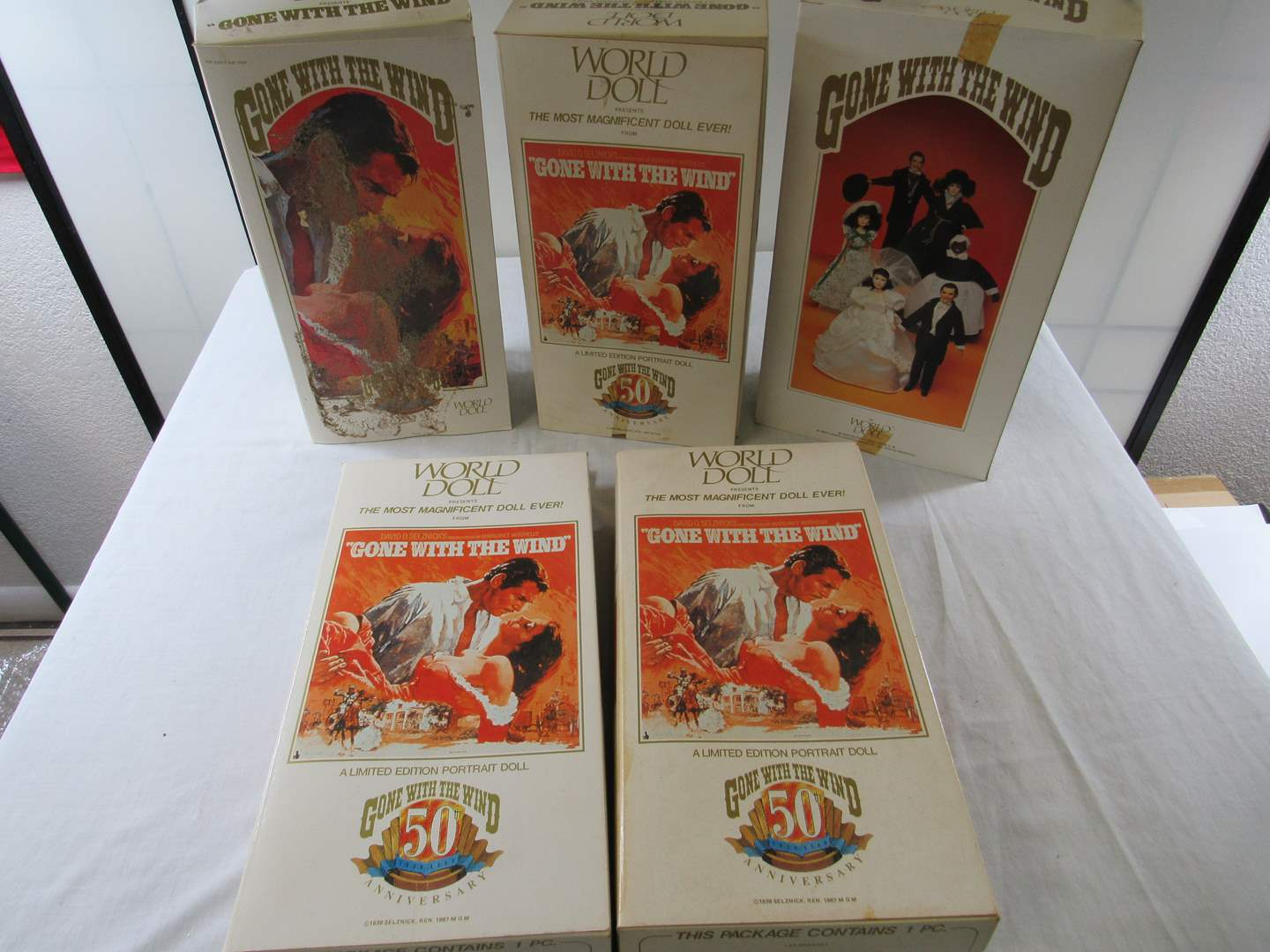 "Lot # 228  Lot of 5 ""Gone with the Wind Dolls""  (They came from a smoker house & have a light smell of smoke) (main image)"