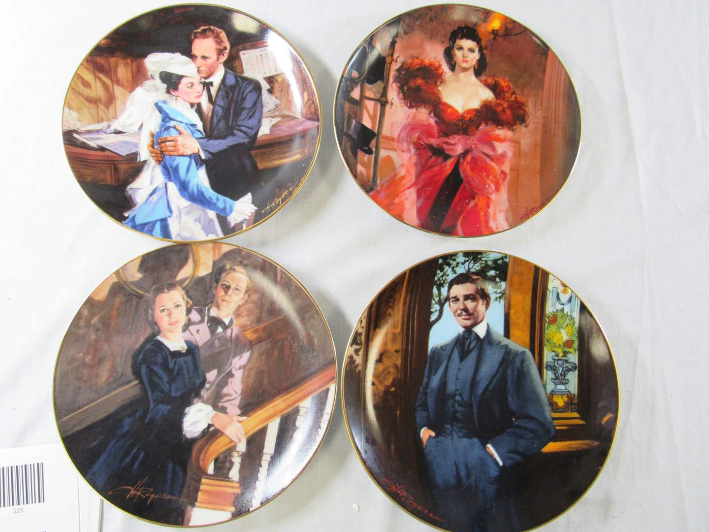 """Lot # 230  Great lot of """"Gone with the Wind"""" collector plates  (needs a good cleaning) (main image)"""