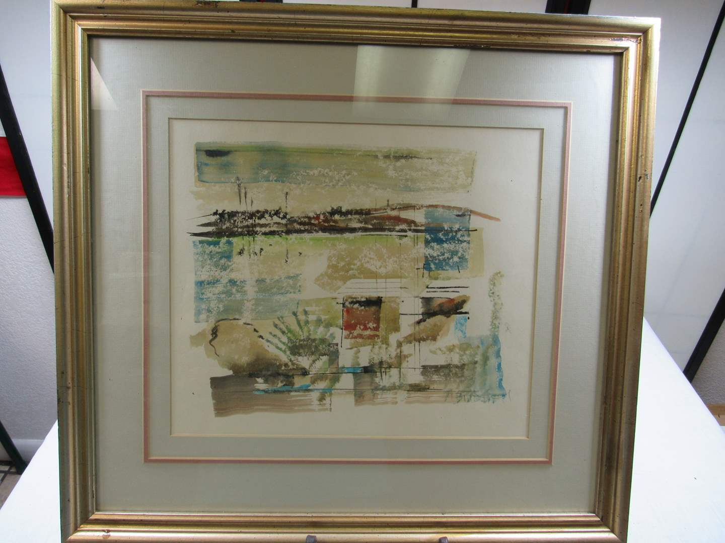 Lot # 249  LISTED artist Alfred Birdsey hand done and signed water color (main image)