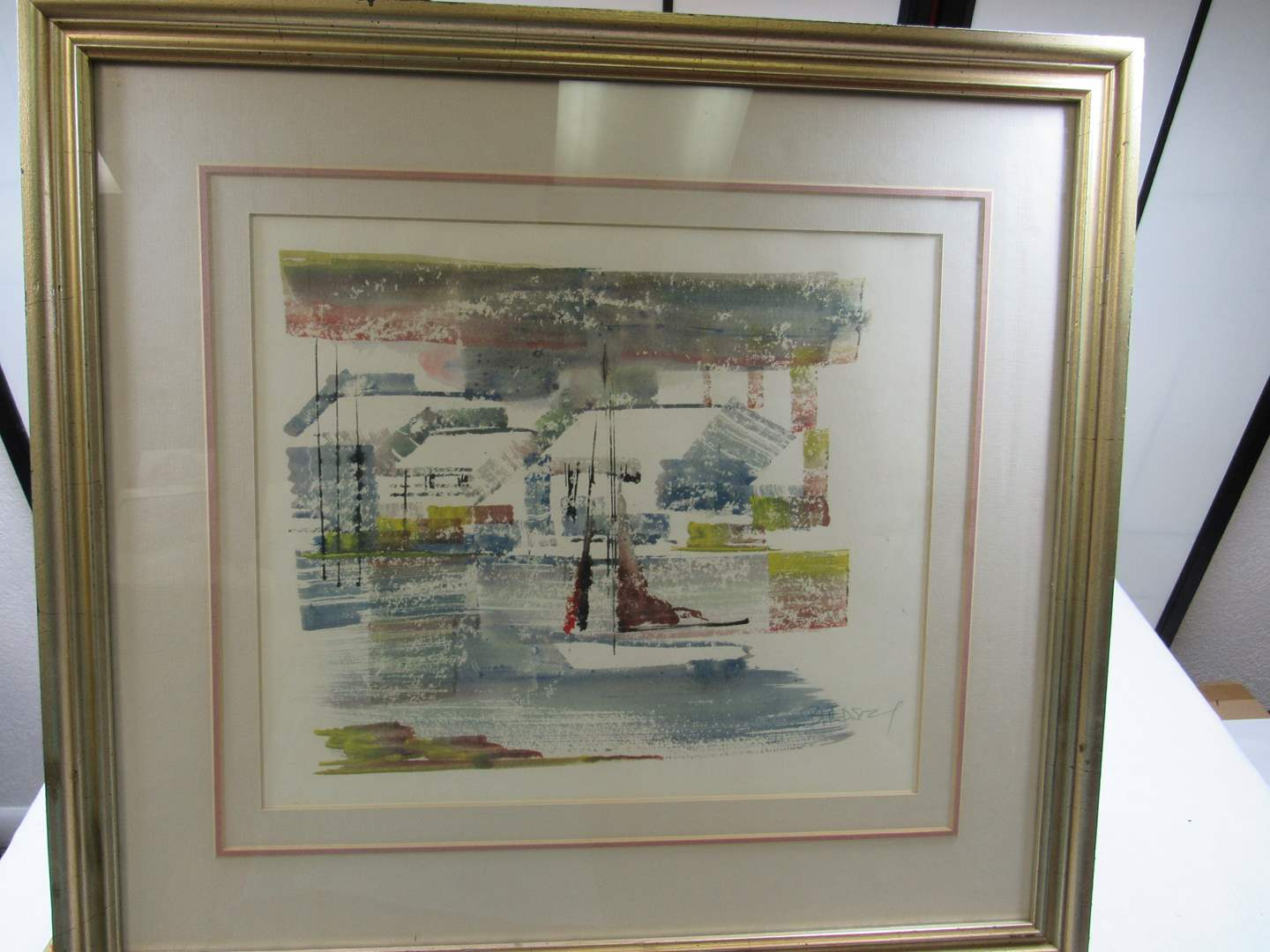 Lot # 251  LISTED artist Alfred Birdsey hand done and signed water color (main image)
