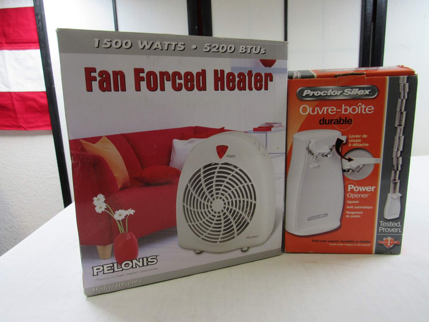 Lot # 260  NEW never used portable heater fan (main image)