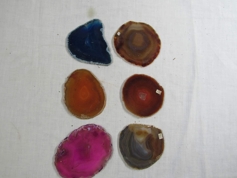"""Lot # 266  Great lot of Sliced Polished Stone agates (average 5"""") (main image)"""