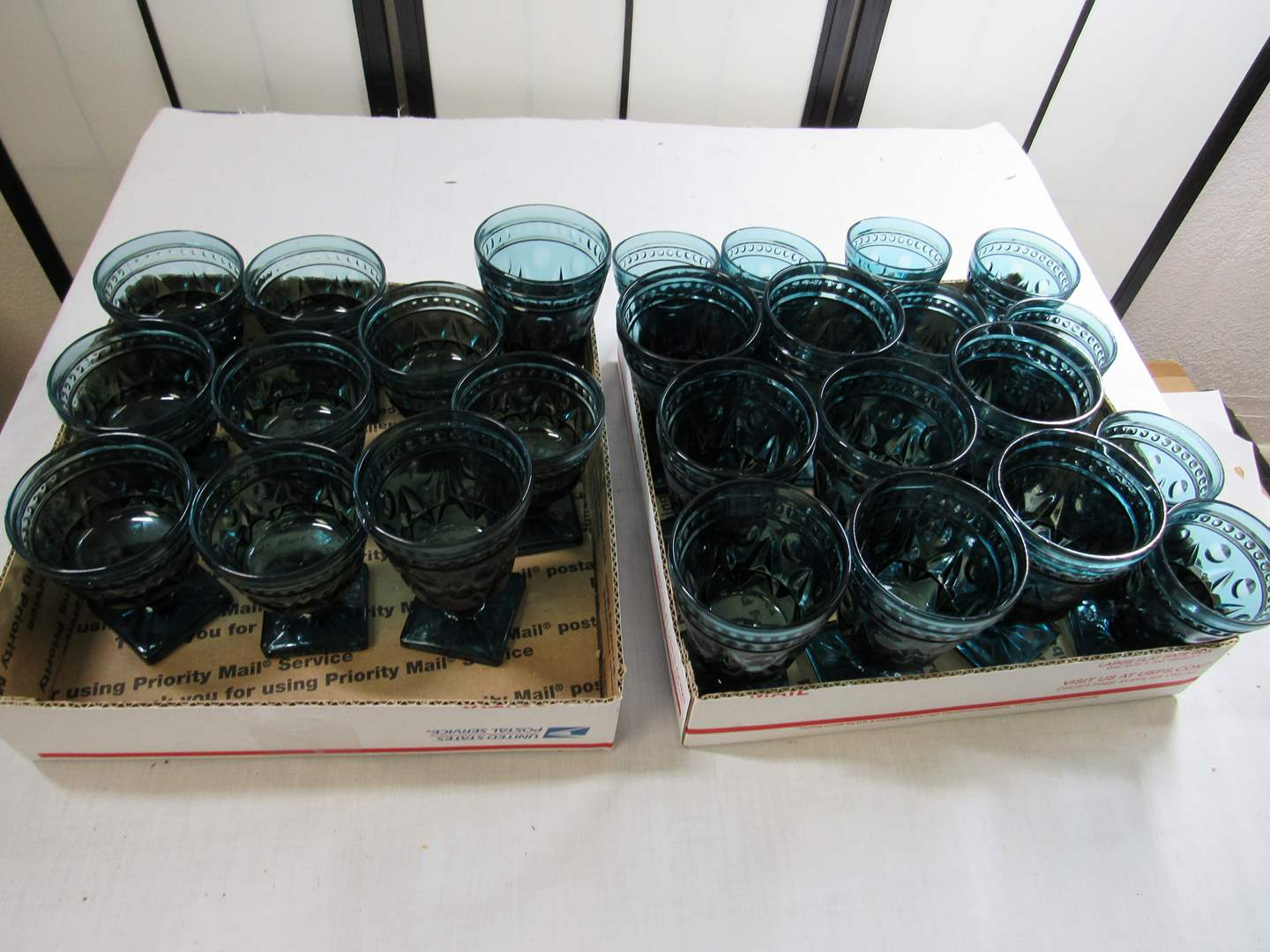 Lot # 280  Large grouping of vintage glasses (different sizes) (main image)