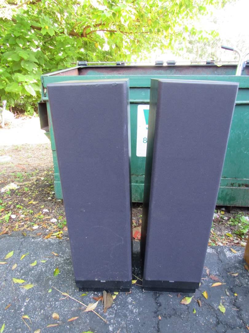 Lot # 55  Vintage pair JBL stand up speakers (main image)