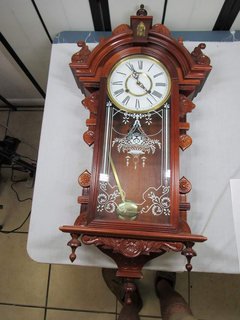 "Lot # 78  Beautiful antique style (working) 38"" clock (main image)"