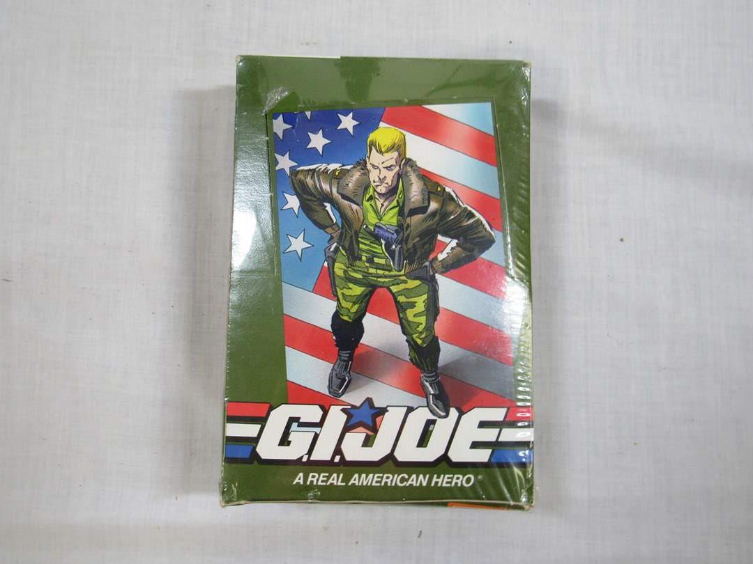 Lot # 44  Unopened box of 36 packs of GI Joe Trading Cards (main image)