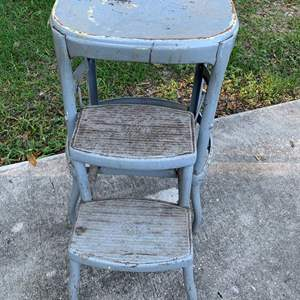 Auction Thumbnail for: Lot # 135 Vintage Costco Fold Out Step Stool