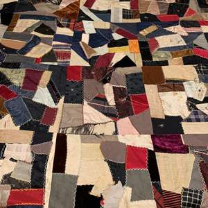 Auction Thumbnail for: Lot # 312 Antique Crazy Quilt. Some Tears As Pics Show