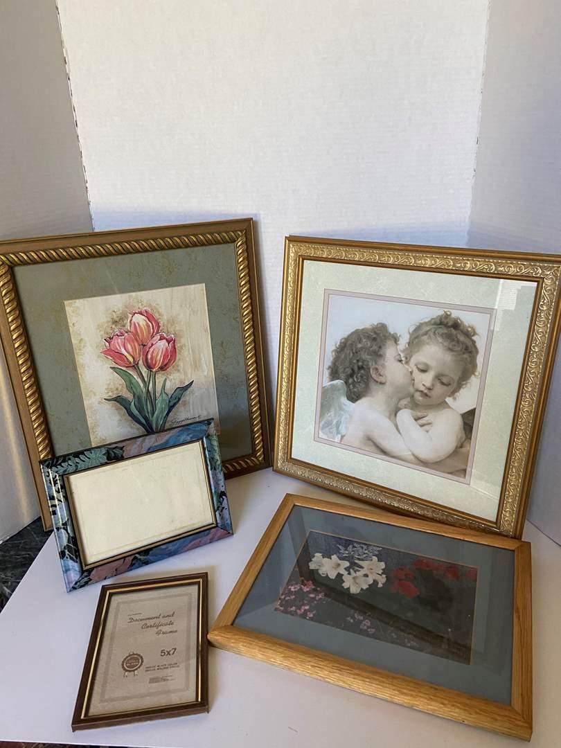 Lot # 5 (3) Framed Pictures & (2) Frames