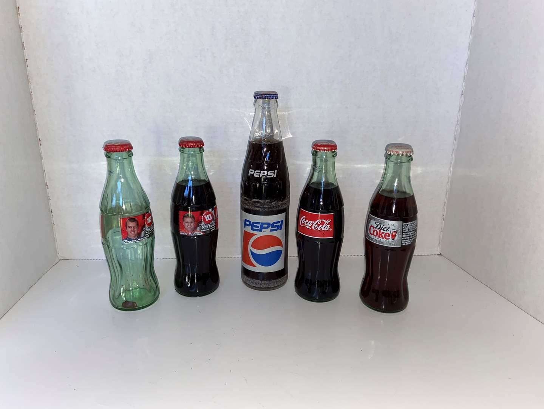 Lot # 13 (5) Vtg Coke/Pepsi Bottles