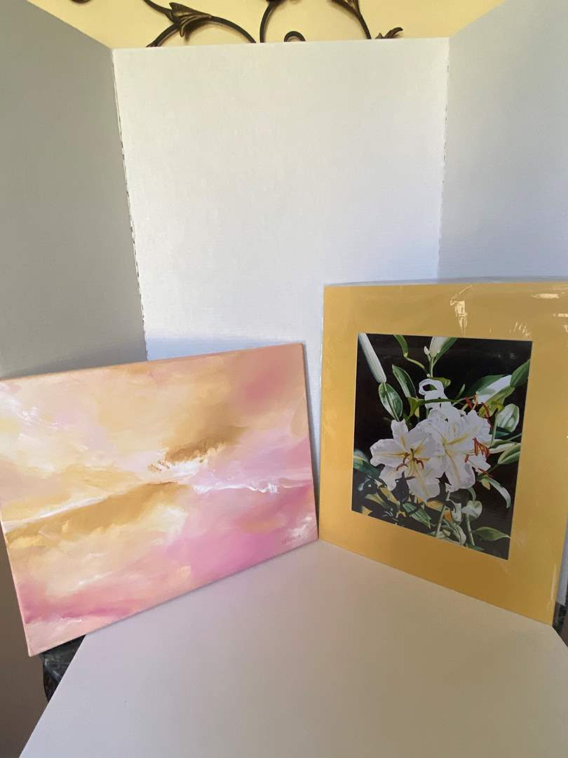 Lot # 16 Donna Francis Canvas (Restless) & Print (Exotic Lillies) Signed (print has COA)