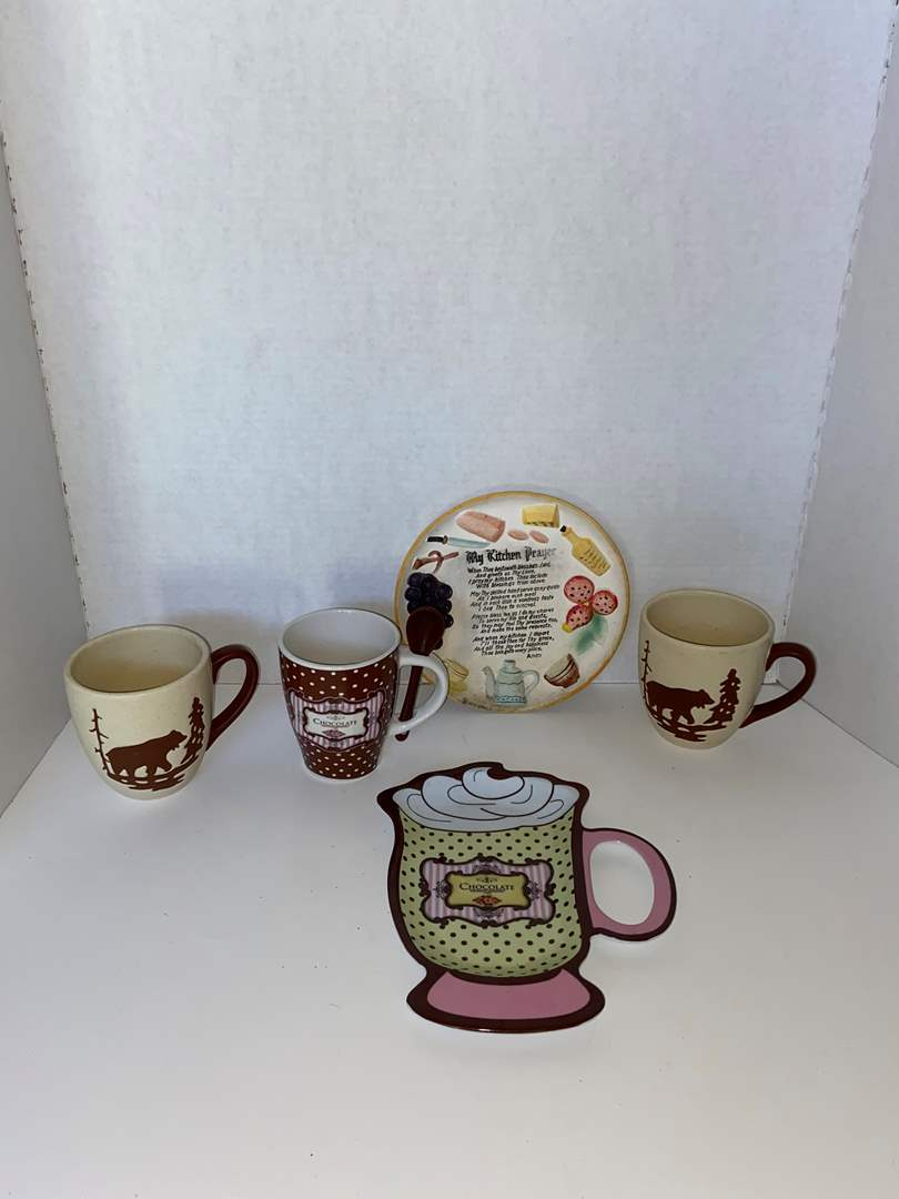 Lot # 22 Coffee Mugs, Kitchen Prayer & Cocoa Set
