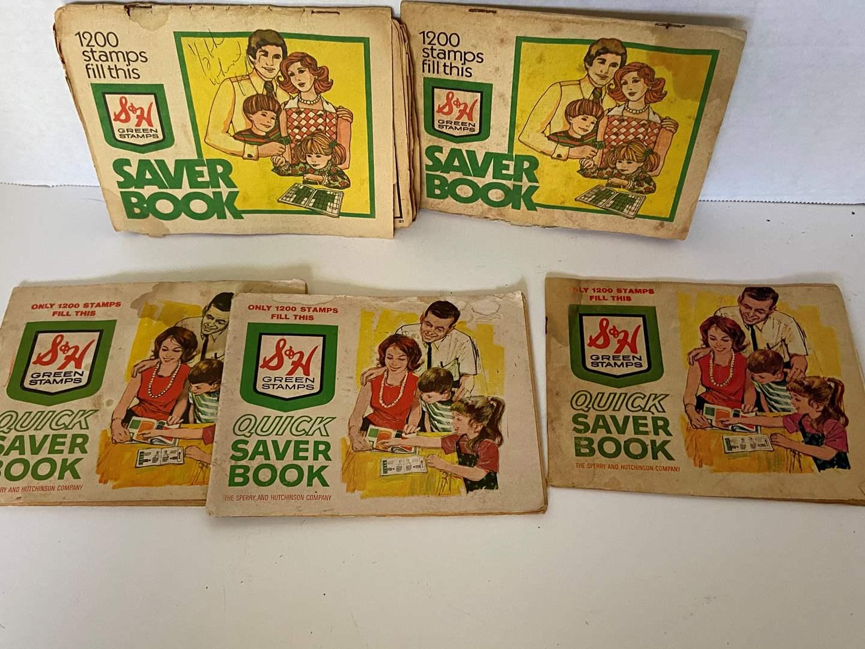 Lot # 35 VTG 60's S&H Green Stamps Books