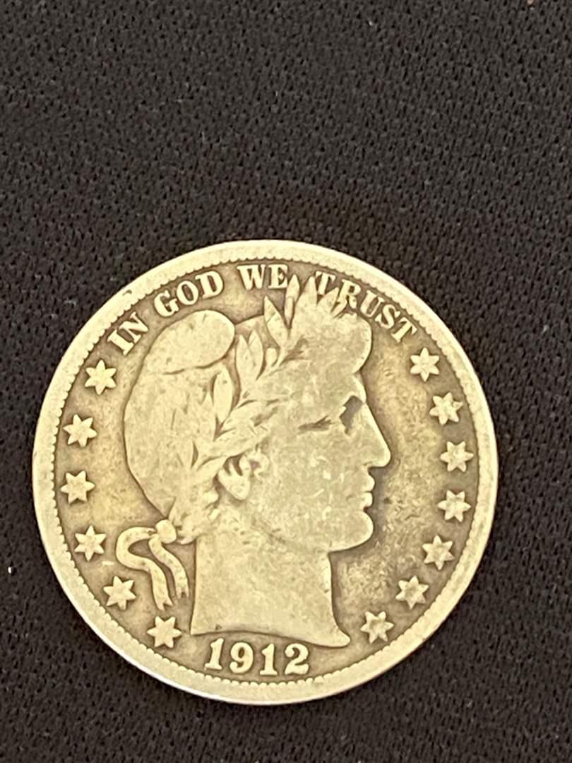 Lot # 41 1912-D Barber Silver Half Dollar * Key Date
