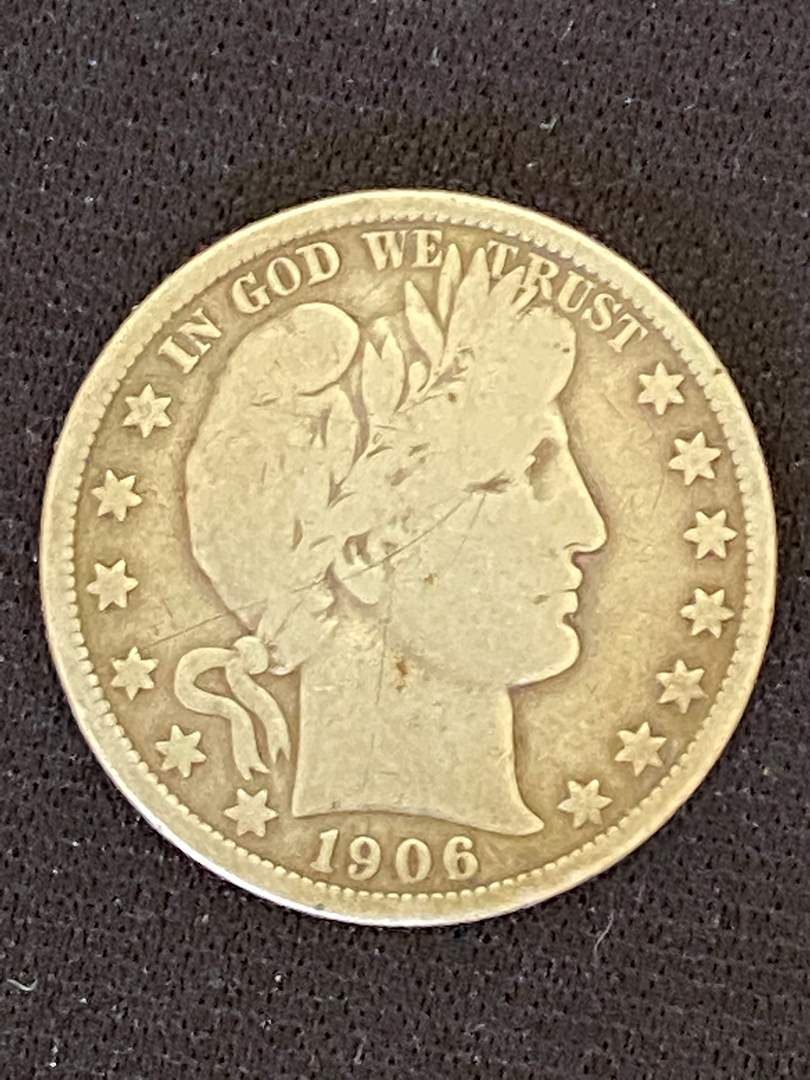 Lot # 43 1906-D Barber Silver Half Dollar * Key Date