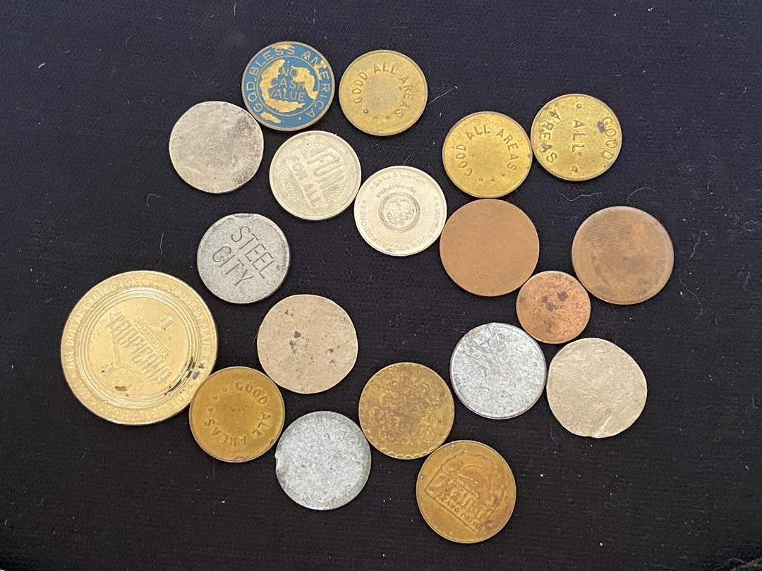 Lot # 46 Collection of Tokens & Coins