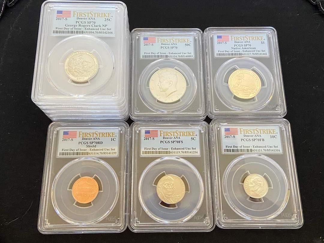 Lot # 47 10 Pc Collection Modern PCGS Slabbed 2017