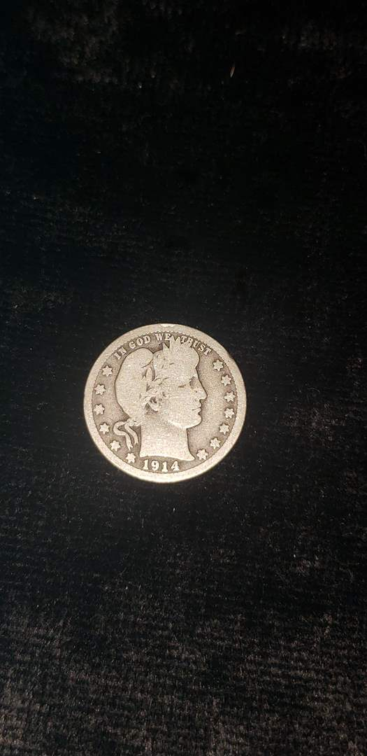 Lot # 58 1914-D Barber Silver Dollar