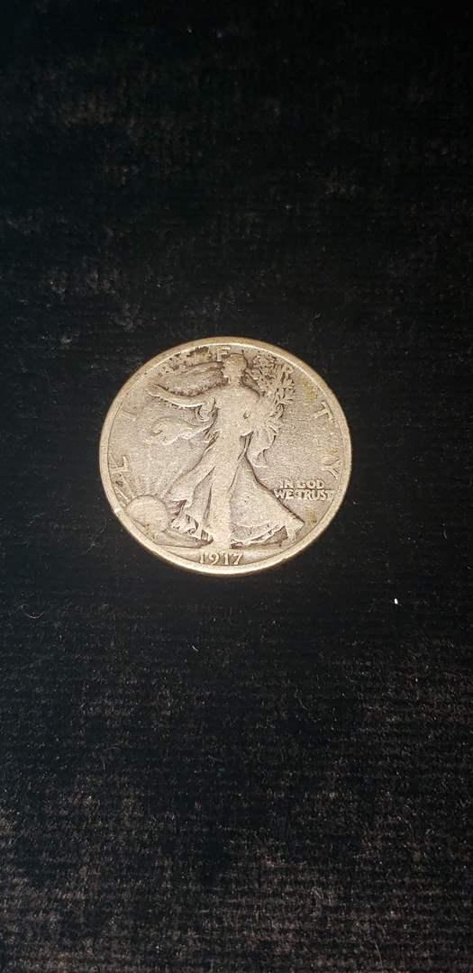 Lot # 60 1917 Walking Liberty Silver Half Dollar