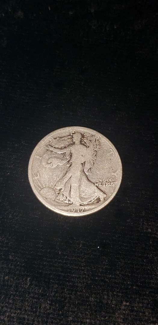 Lot # 61 1917-D Walking Liberty Silver Half Dollar