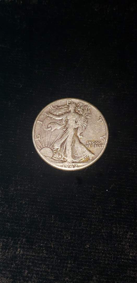 Lot # 62 1942 Walking Liberty Silver Half Dollar