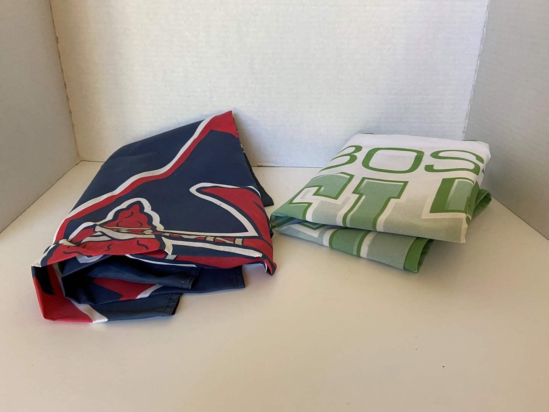Lot # 74 Atlanta Braves & Boston's Celtics Flags